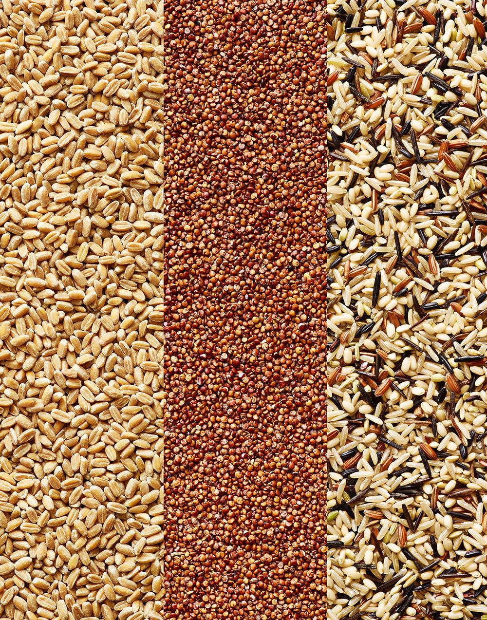 Grains: Farro, Quinoa, Wild Rice