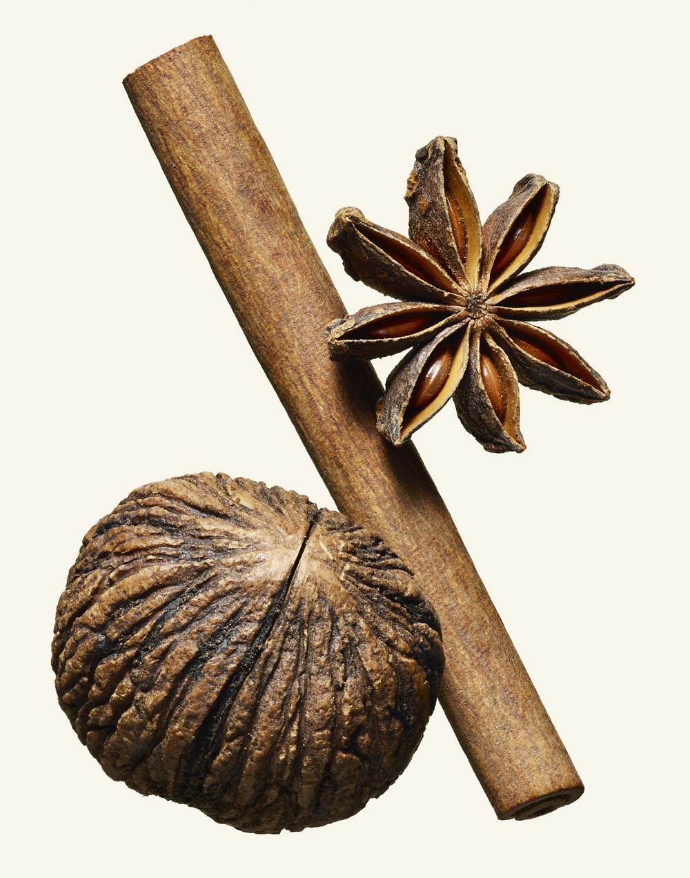 Star Anise, Cinnamon, Black Walnut