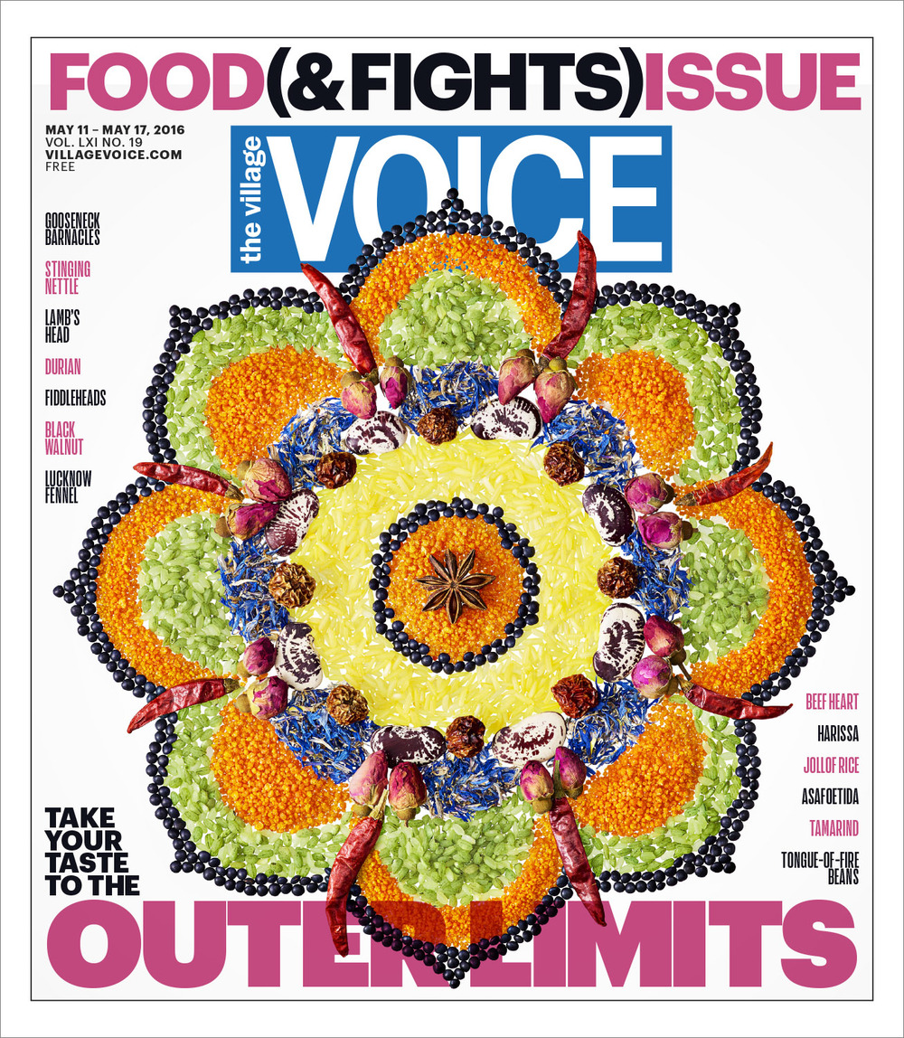 The Village Voice - Food & Fights Issue Cover