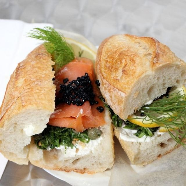 Take a cue from the Swedes this weekend and get yourself a freshly made smoked salmon, caviar and herb sandwich (using @paindavignon bread!) from #nordicpreserves. It's an outrageously delicious, high quality sandwich for less than the fancy bagel shop up the street 😉 #essexstreetmarket #hyggeeforone #saturdaynoms