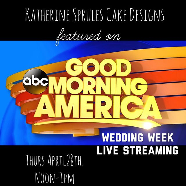 Good morning cake lovers!! Check out @goodmorningamerica's website live stream for an expert segment with @theknot featuring a couple of our cakes for #weddingweek! 🙌🏻 ❤️ #weddingcakes #NYC #stealvssplurge #goodmorningamerica #theknot #ksprulescakes
