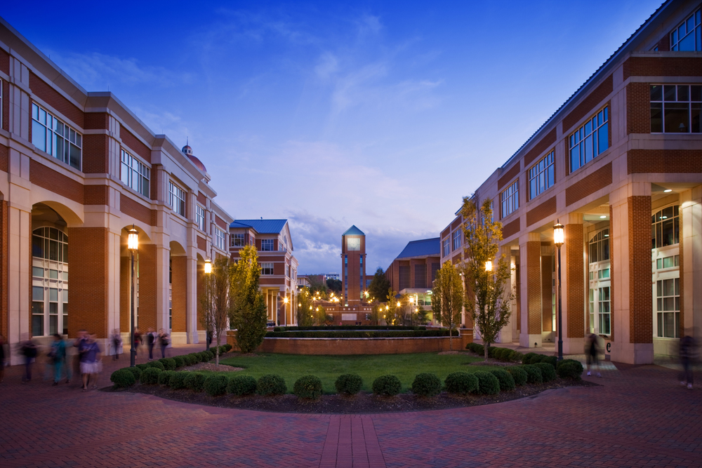 architectural photography exterior. Client: UNC Charlotte - Main Campus Architectural Photography Exterior