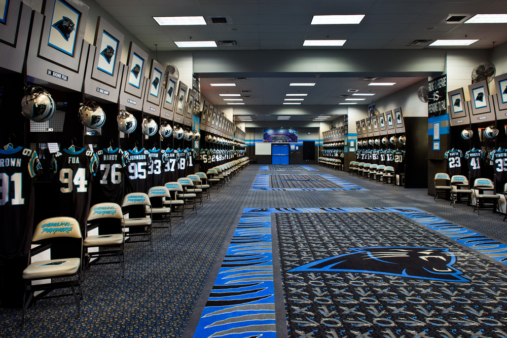 Client: LGA - Carolina Panthers Lockeroom