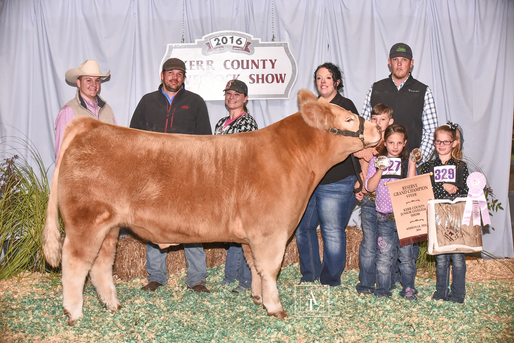 2016 KERR COUNTY YOUTH LIVESTOCK SHOW     RESERVE GRAND CHAMPION  shown by  CODA FRAZER