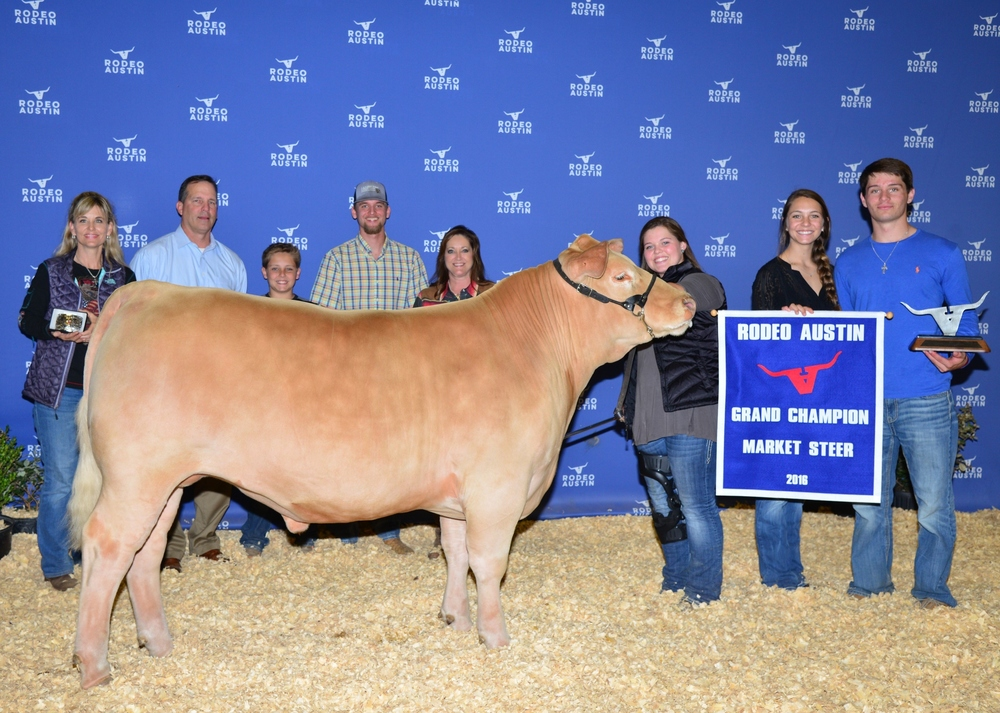 Congratulations to Anna Grace Bourgeois on GRAND CHAMPION STEER at Rodeo Austin 2016!  Come see us April 2nd for our Fall Born sale!