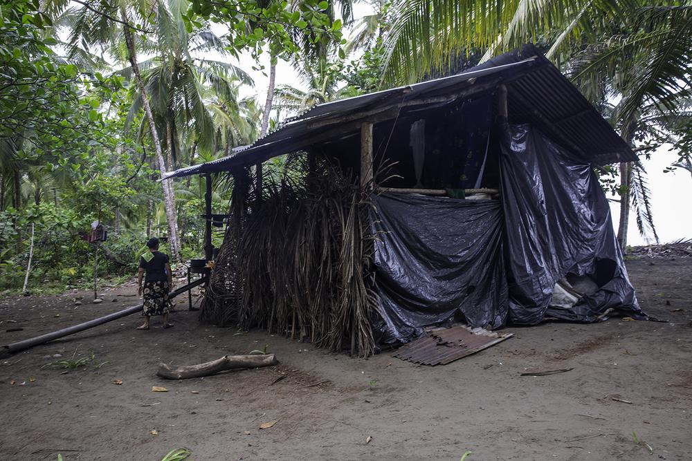 Guti's hut. Not a tourist's idea of Costa Rican beach living.
