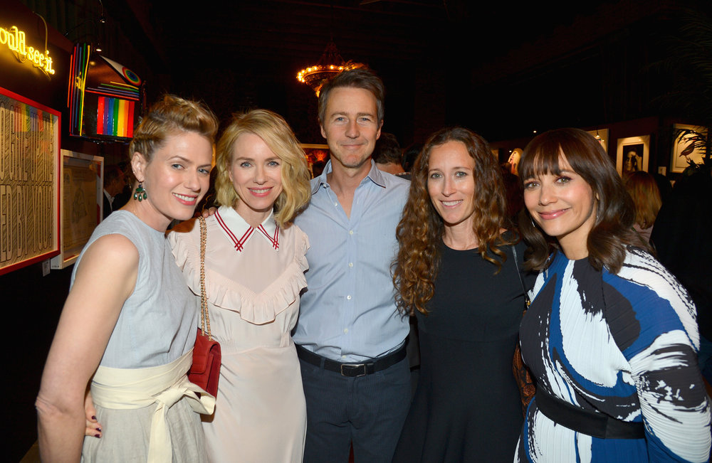 Sunrise Coigney, Naomi Watts, Edward Norton, Shauna Robertson, and Rashida Jones