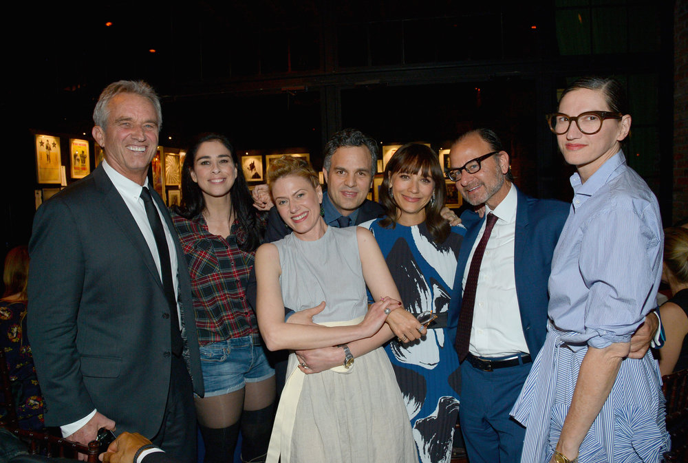 Robert F. Kennedy Jr., Sarah Silverman, Sunrise Coigneym, Mark Ruffalo, Rashida Jones, Fisher Stevens, and Jenna Lyons