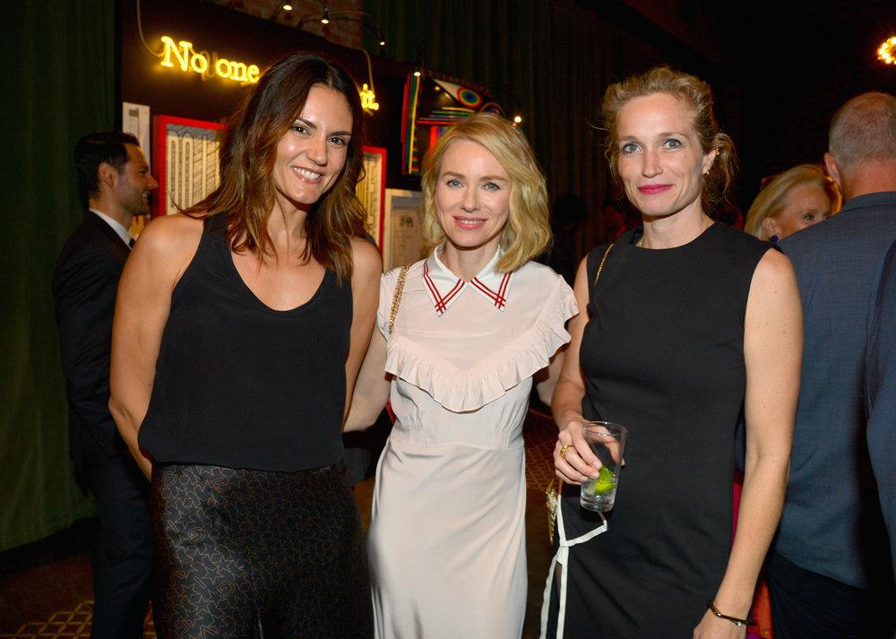 Roberta Mastromichele, Naomi Watts, and Alexis Blume