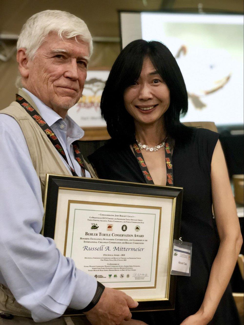 Russell Mittermeier and Hiromi Tada