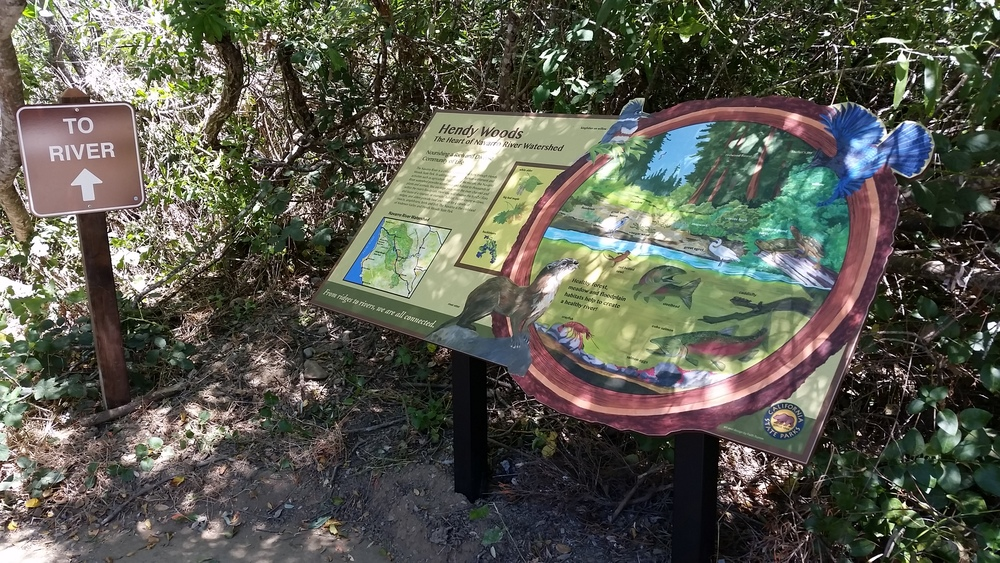 One of the new interpretive panels.  Photo by Miel Newstead.