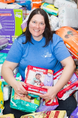 corinne cannon is getting diapers to families who need them