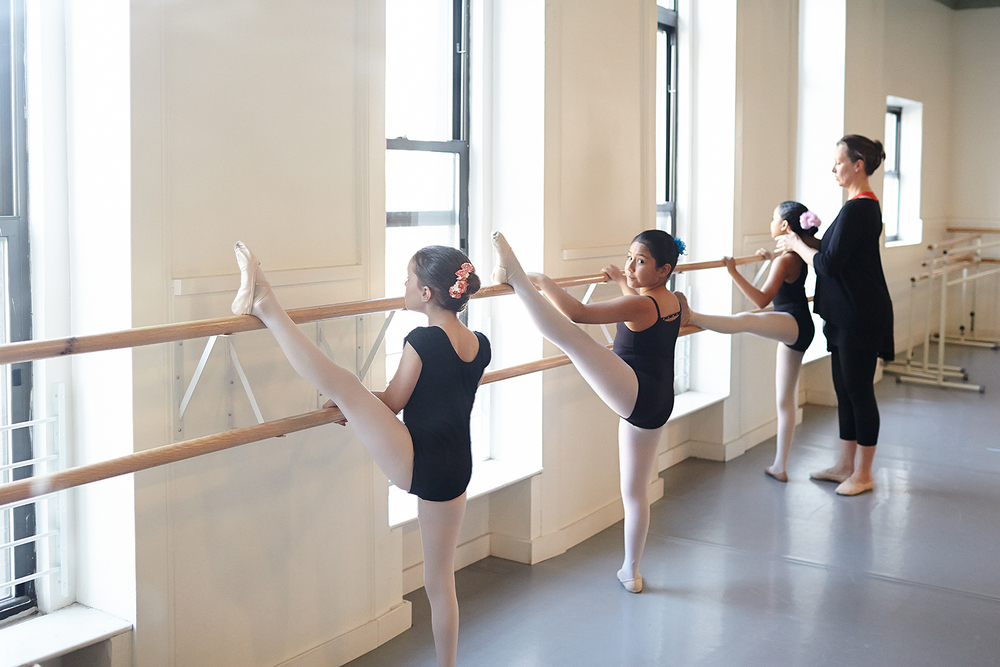Linton-Meyer and some of her tween ballerinas