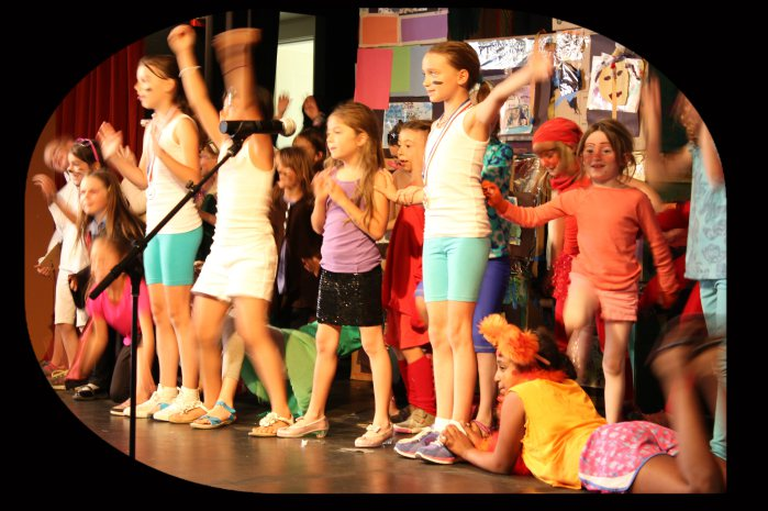 Go Girl! Campers take the stage in camps across the bay area. Photo by glitter & razz Productions, llc.
