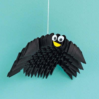 Crafty Kids 3d Origami Spider For Halloween Urbanfamily