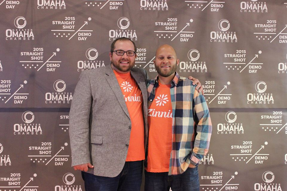 Nathan, left, and Andy at Straight Shot Demo Day 2015