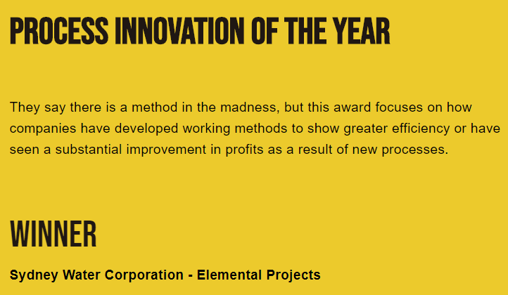 Process innovation of the year