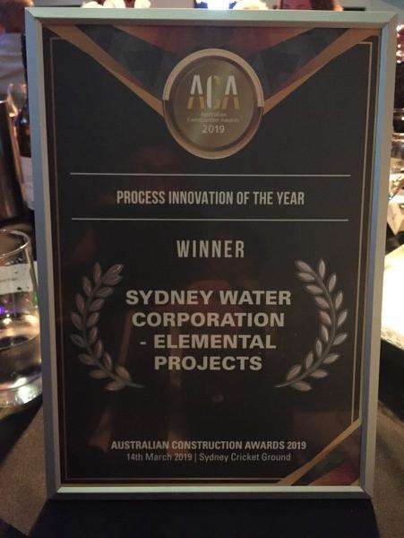 Sydney water award