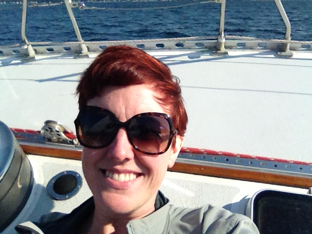 """""""Taking a restorative day to sail without my family!""""  - Angel"""