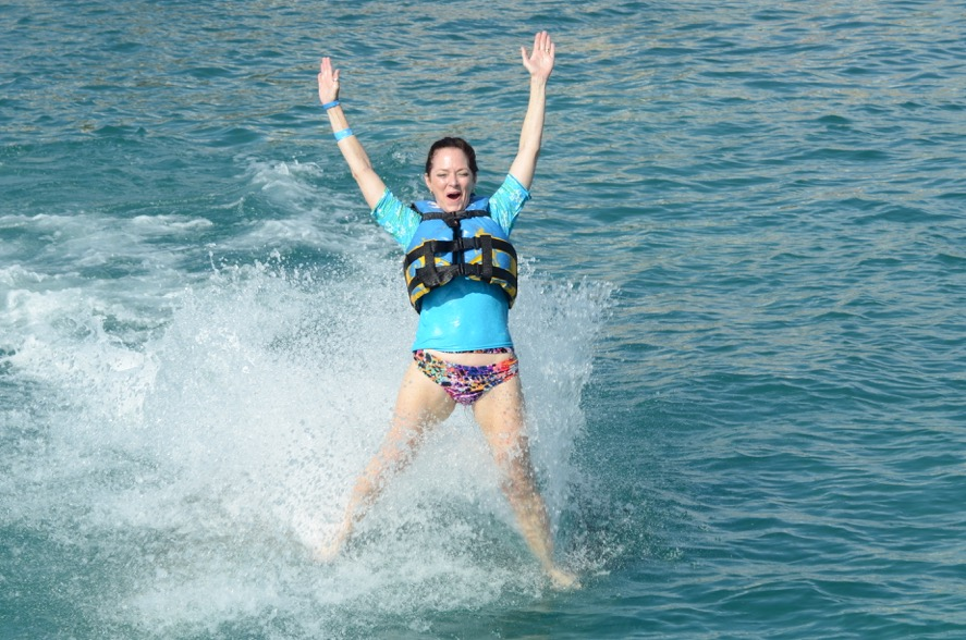 """""""Getting my wild on riding two dolphins.""""   -Candy"""