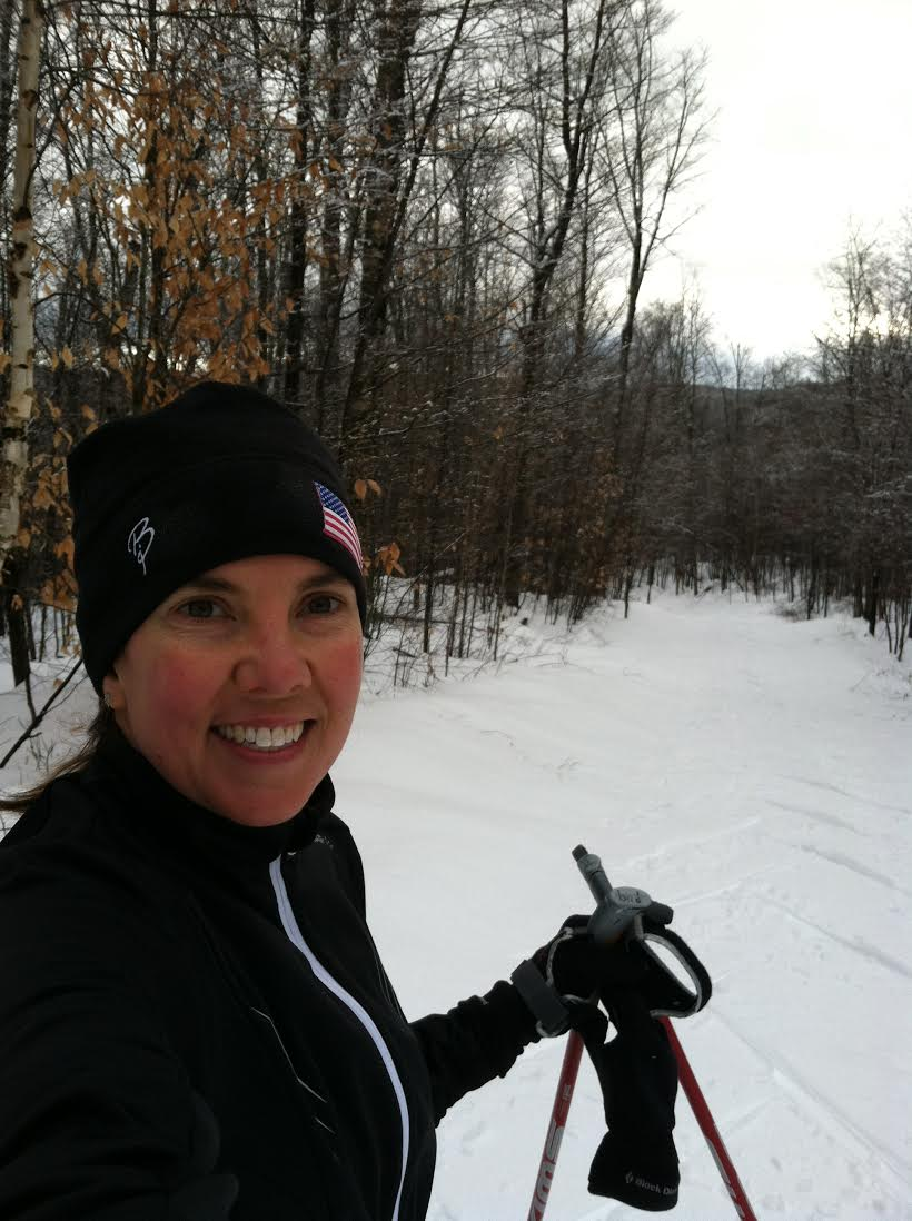 """""""Skiing in the woods of New Hampshire!""""    -  Amanda"""