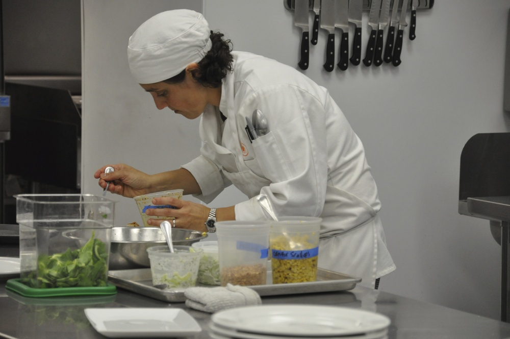 """""""A lifelong dream fulfilled - plating food for culinary school final meal.""""   - Ellery"""