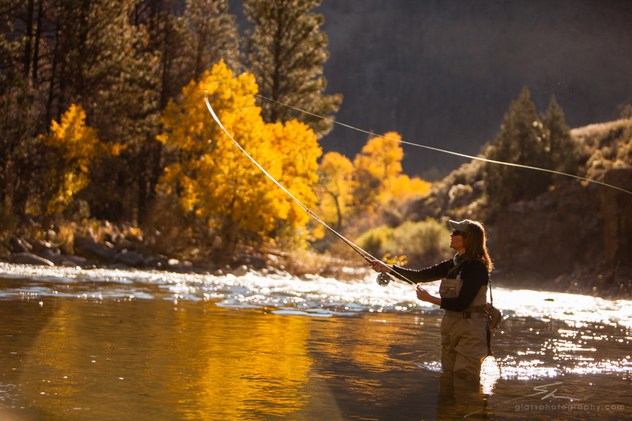 """""""I love fly fishing in the river and the rush I get when I catch a fish .""""  - Kerrie"""