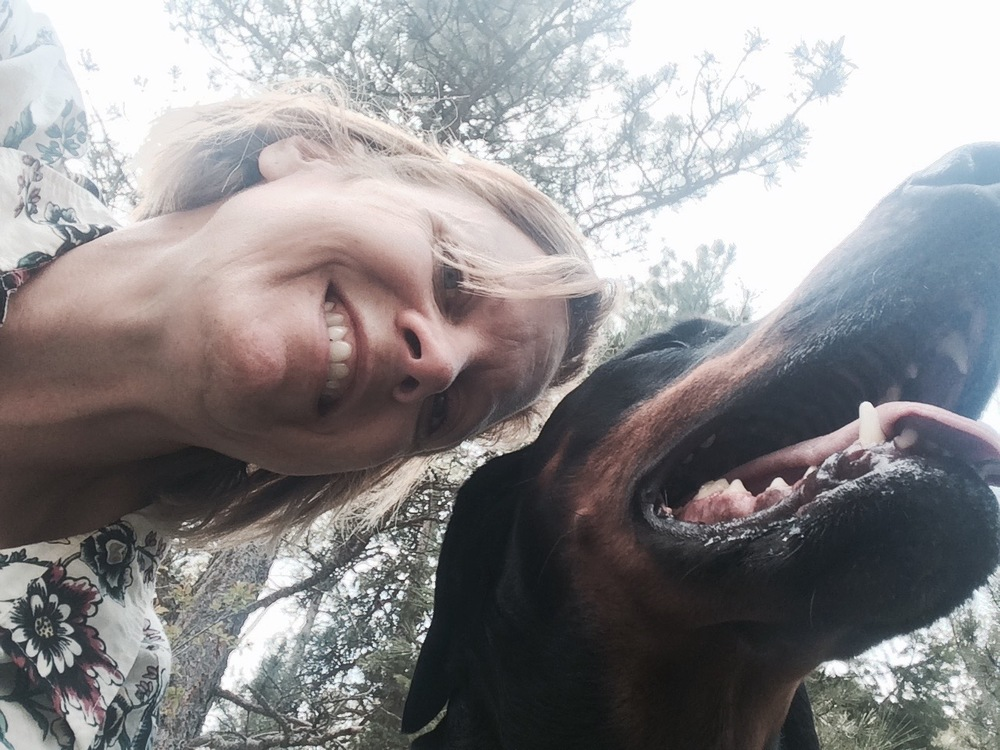 """Daily hikes with my faithful Doberman allow me to experience nature in total peace....with Takoda by my side I am wild and fearless."" -Carrie"