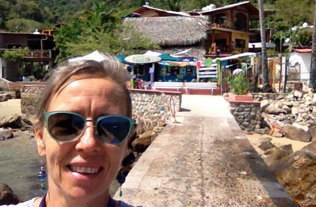 """""""I am so wild that I walked away from a life as a chef in high-end fine dining to open a restaurant in a little beach town accessible only by boat. CAFE BAHIA YELAPA is behind me, has 14 tables, and a roof made of dead leaves."""" -Susan"""