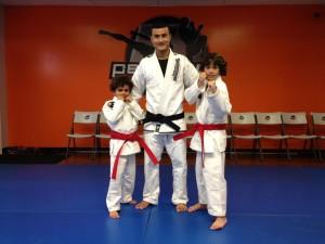 warrior kids red belts mma