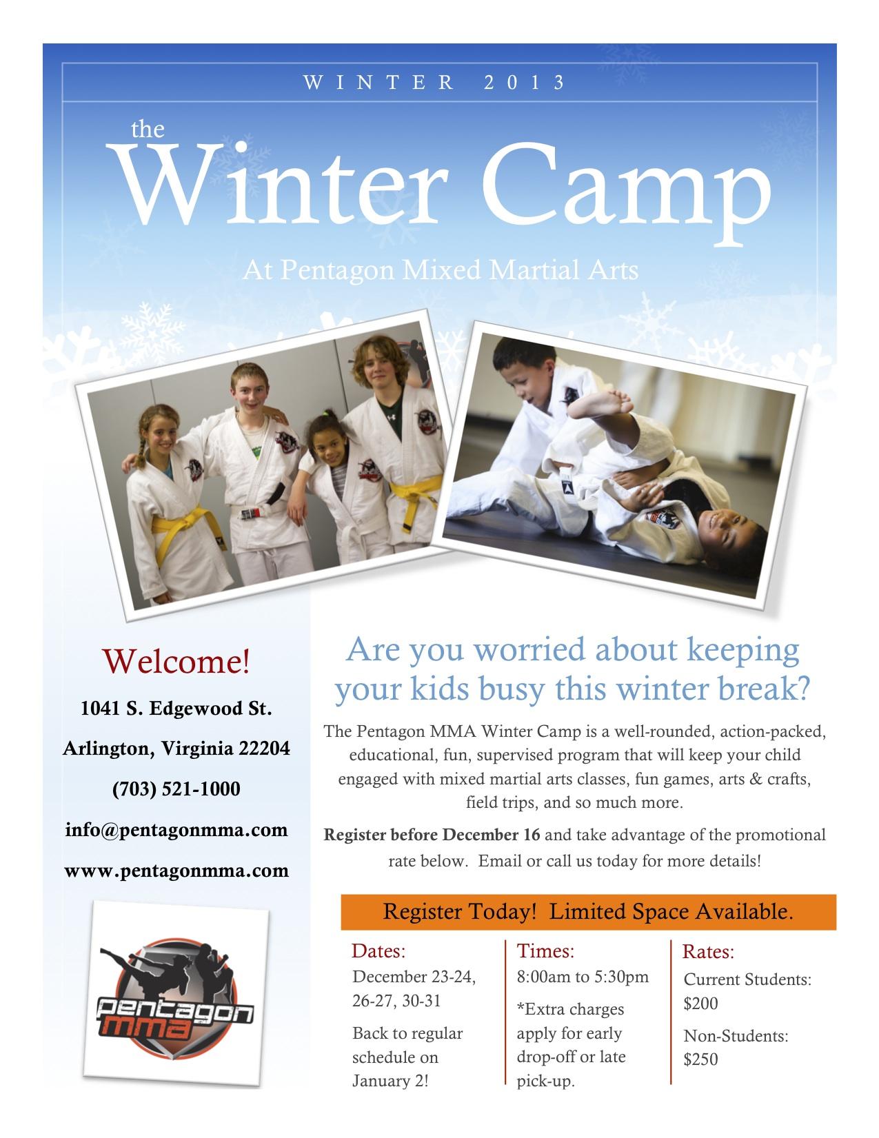 Pentagon MMA Kids' Winter Camp
