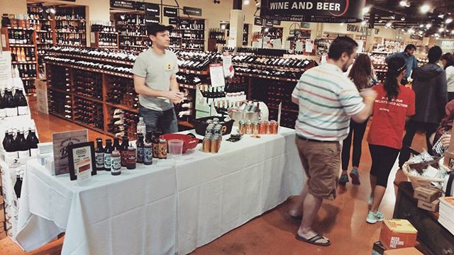 Hanging out and sampling with some beer vendors today, come check it out!