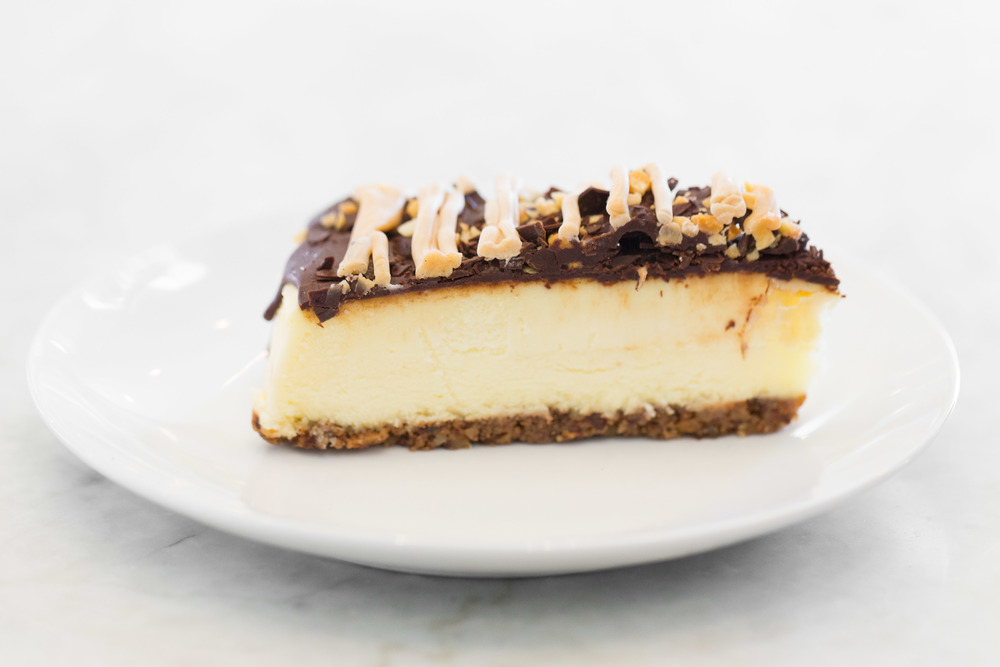 Turtle Cheesecake Slice