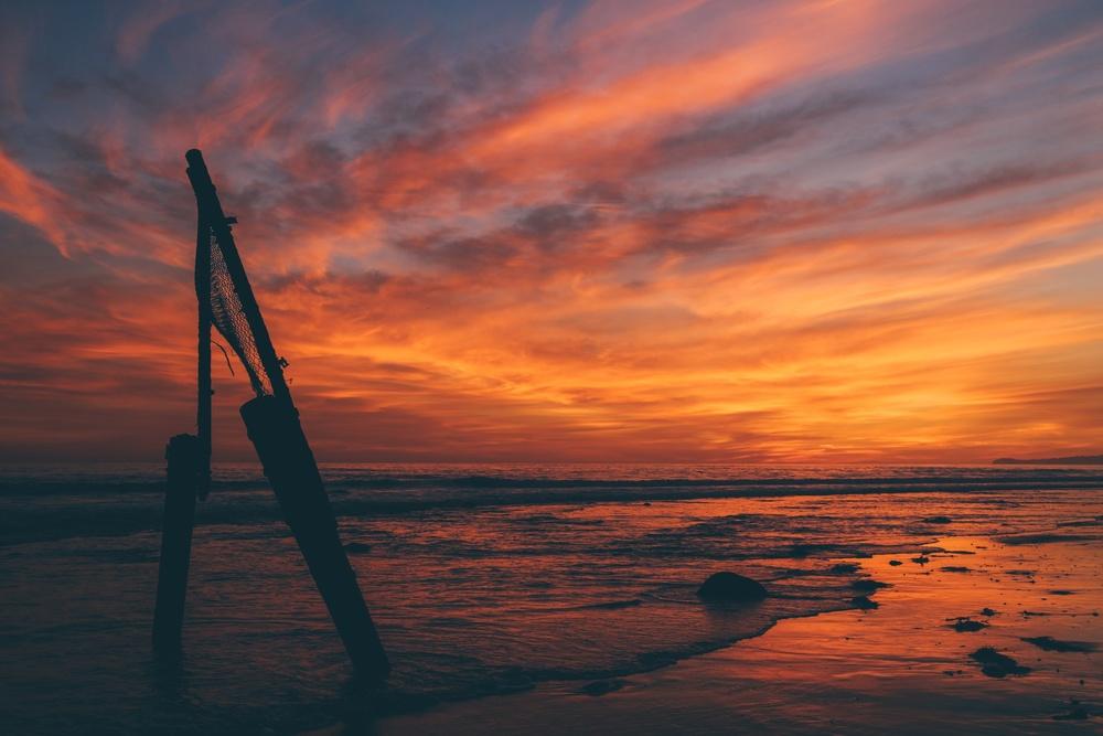 Sunset from Malibu, California