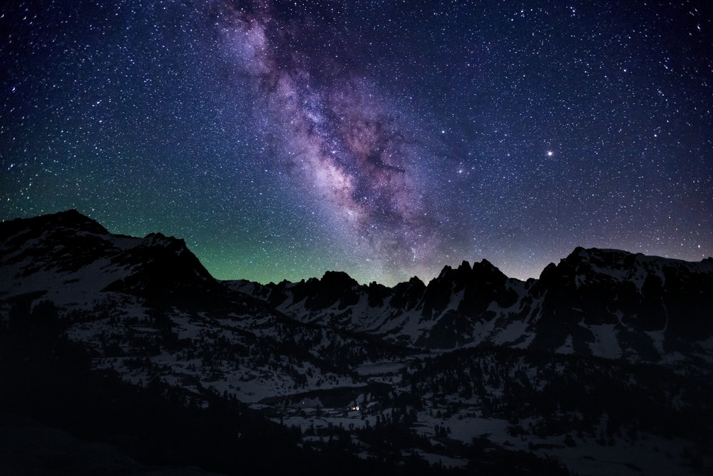 Milky Way over Kearsarge Pinnacles in the Eastern Sierras.