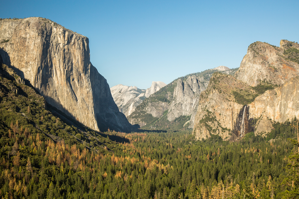 Tunnel View of Yosemite Valley, California