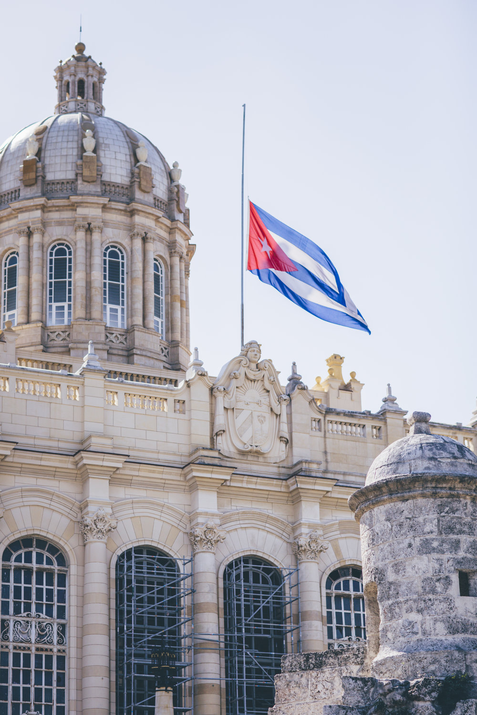 Half Mast Cuban Flag