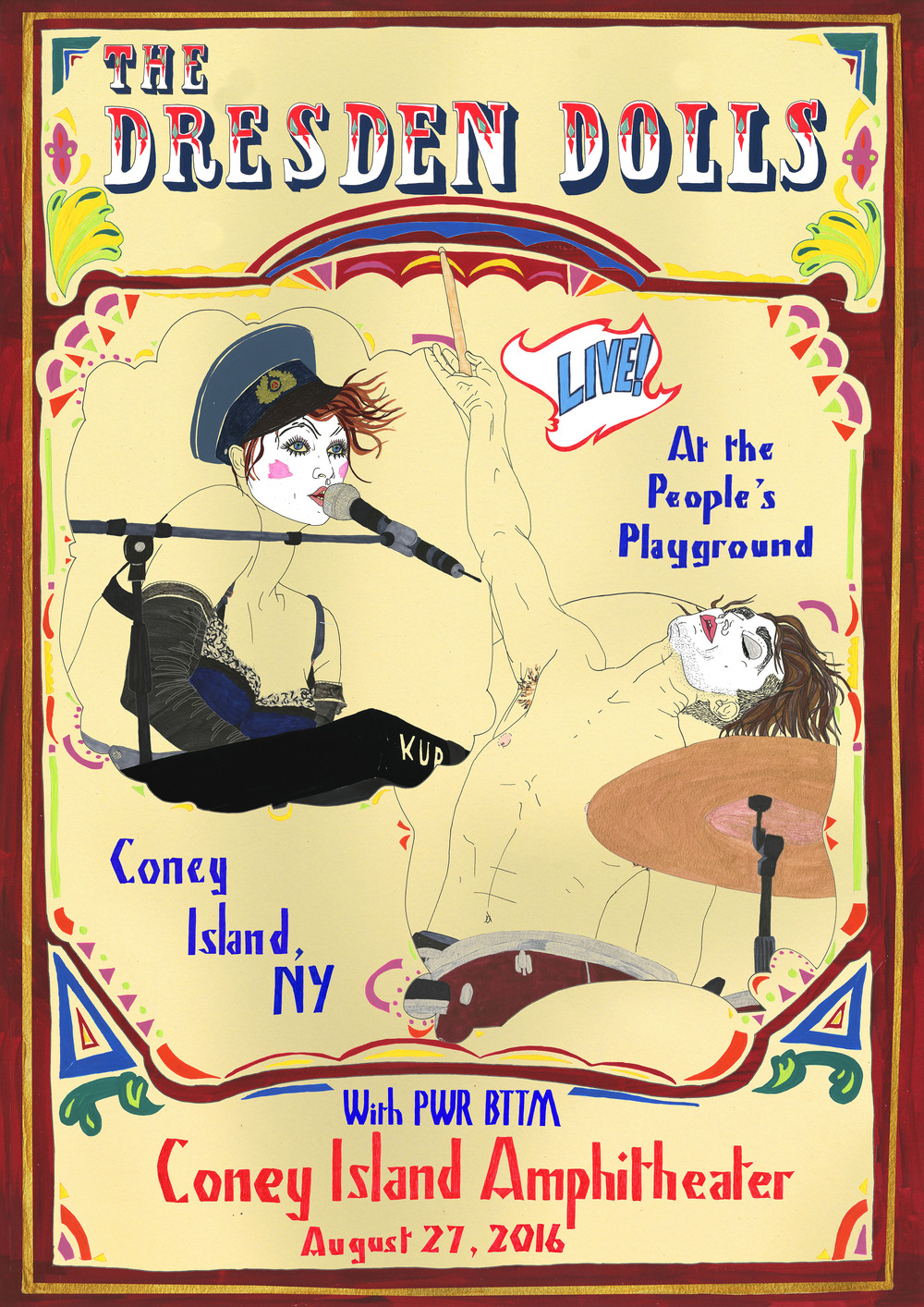 The Dresden Dolls Coney Island Amphitheater Poster