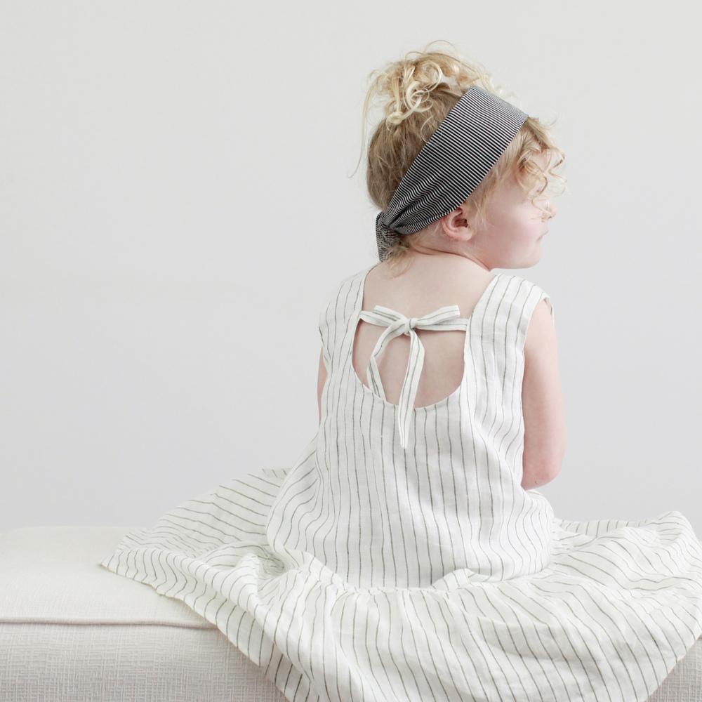 Charlie's dress by Little Shenanigan headwrap by Little People Rocx
