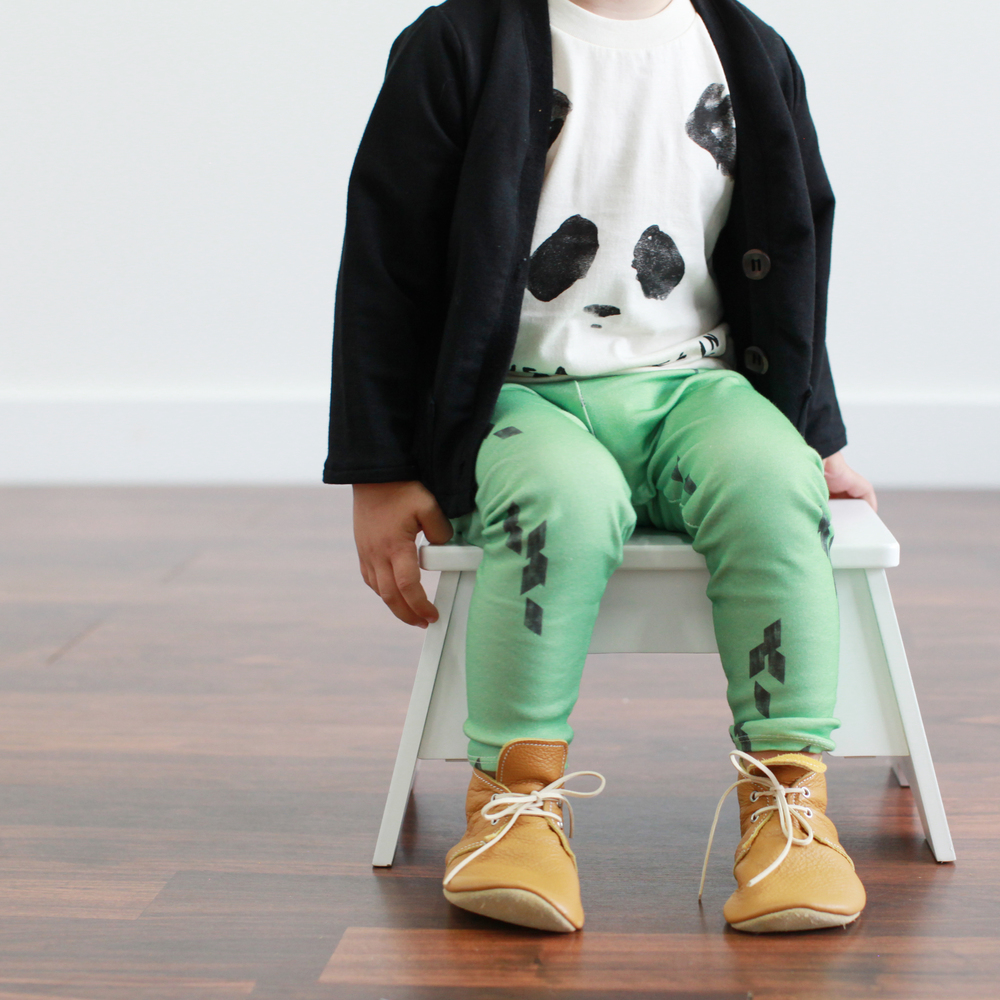tee from Kid+Kind, shoes from Mon Petit Shoes