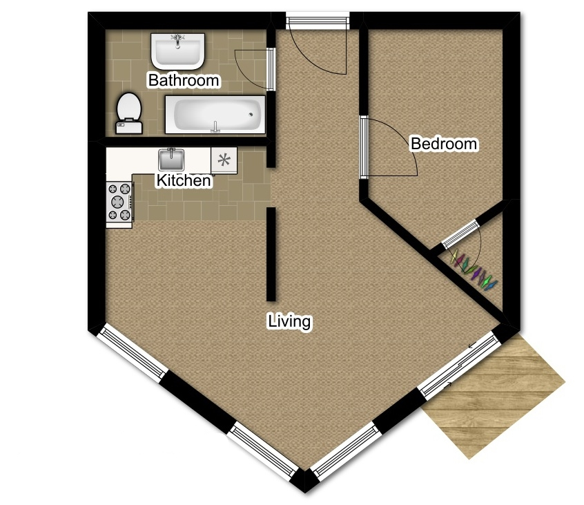 One Bedroom 780 Sqft