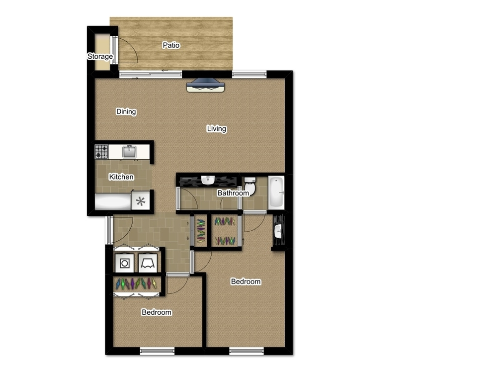 Two Bedroom 920 Sqft