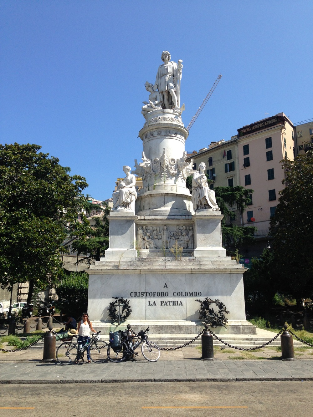 Quick stop in Genoa, once one of the richest cities in Europe and infamous home of Christopher Columbus