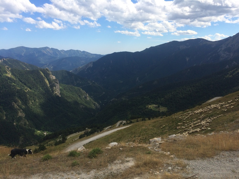 The beginning of the dirt switchbacks down the beautiful French side of Colle di Tende