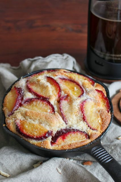 {Roasted Plum + Almond Skillet from katieskibtchenjournal.com}