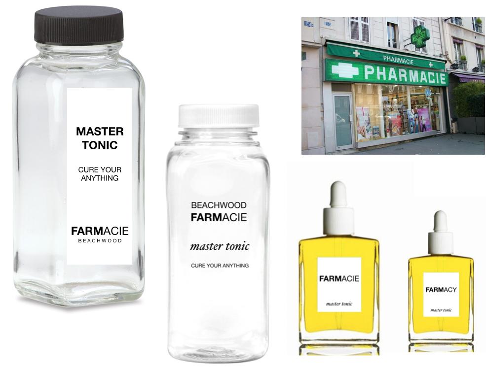 Left: French Milk Bottles.