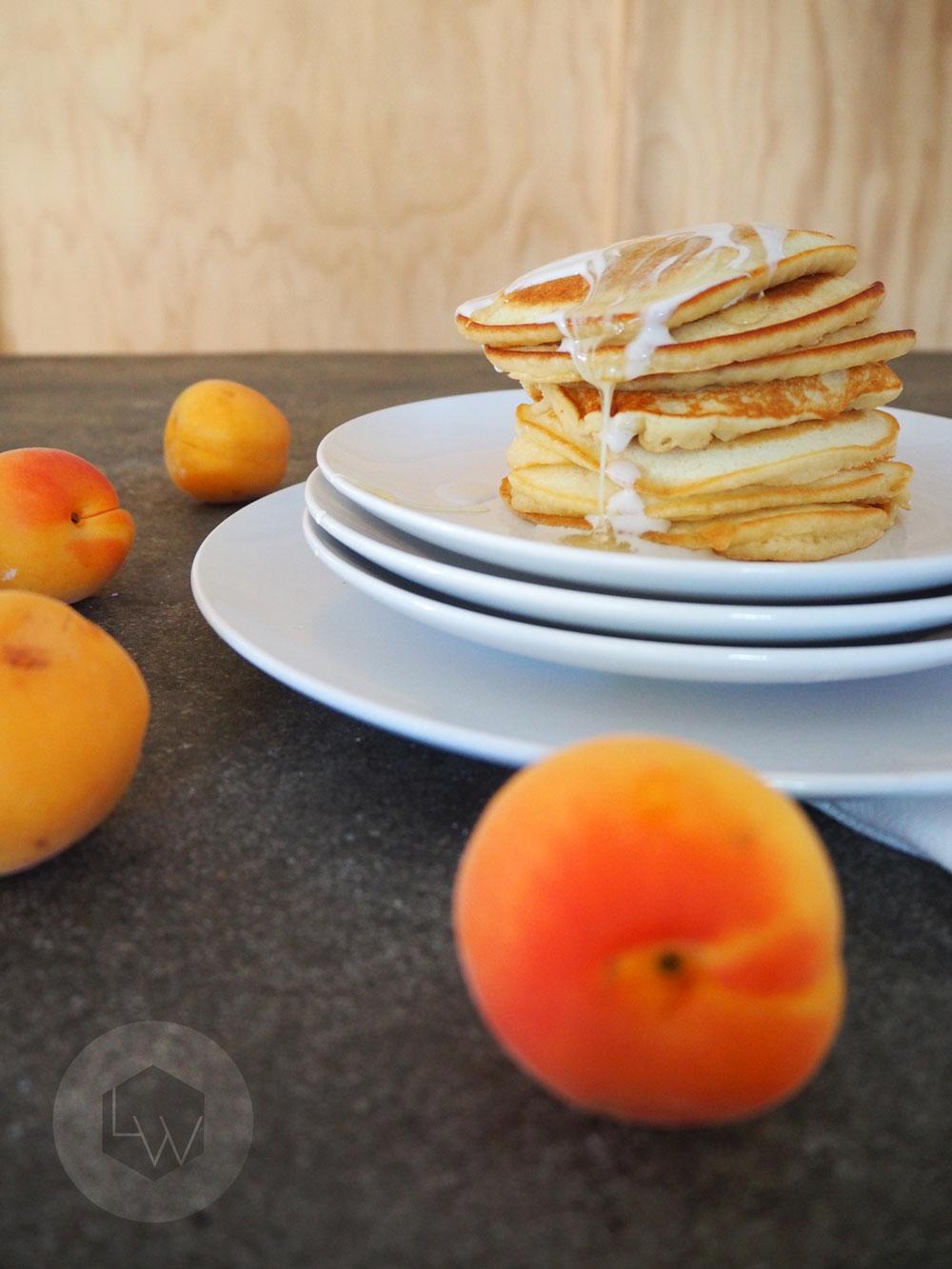 Apricot pancakes via Lila Wolff