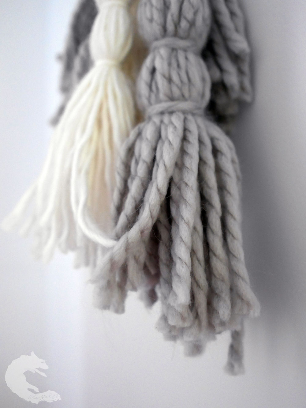 DIY wool tassel mobile