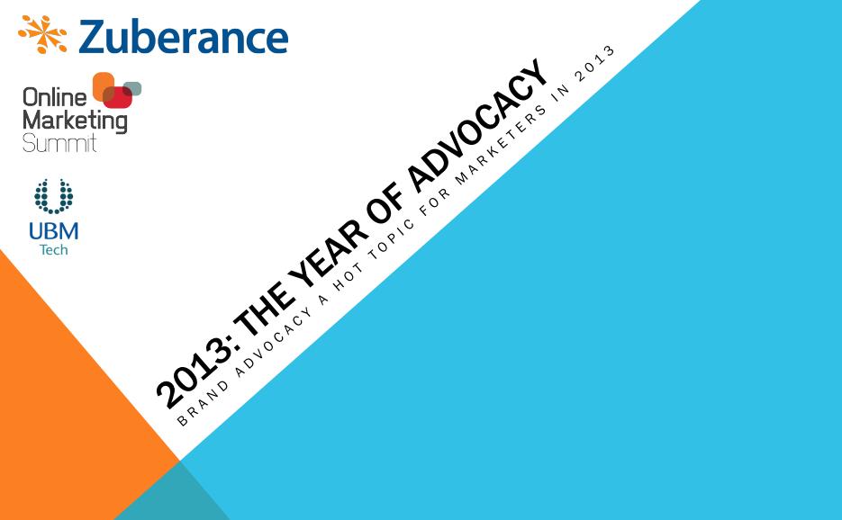 Zuberance-UBM Tech-2013 Advocacy