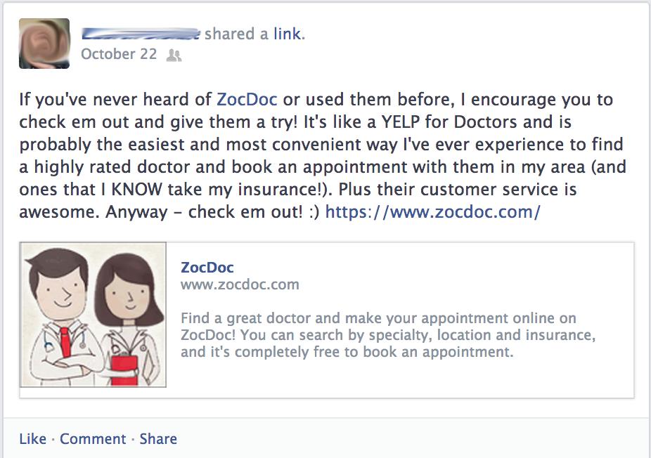 ZocDoc Recommendation